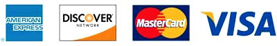 Payment Options AmEx   Discover   Mastercard   Visa
